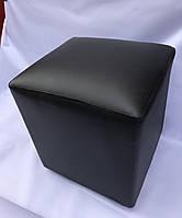 Пуфик квадратный черный