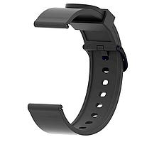 Ремешок силиконовый для смарт-часов 20 мм Smart Bracelet Silicone Black