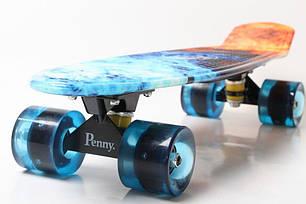 Скейт Пенни борд Penny Board Пенні Print Led 22 -  Огонь и Лед 54 см, фото 2