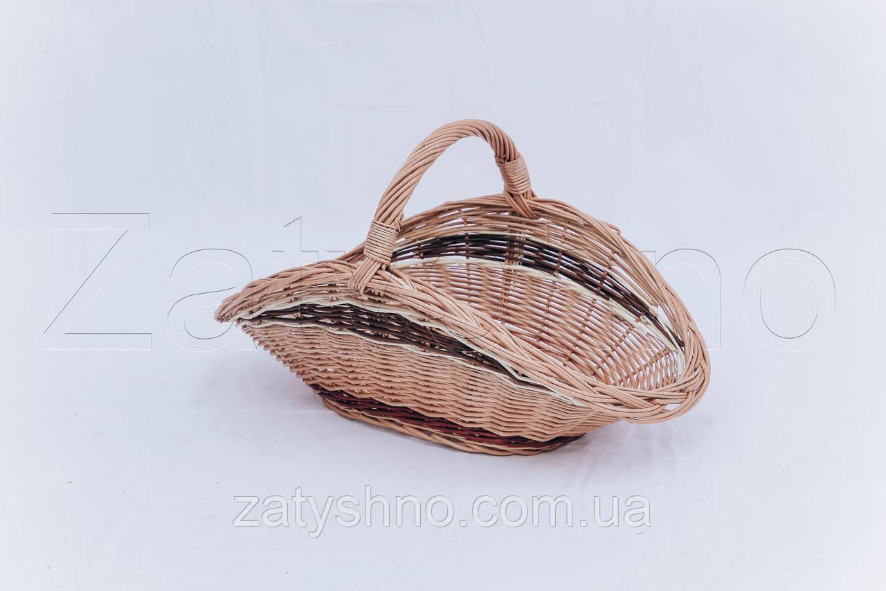 Декоративная корзина средняя из лозы | плетеная корзина из лозы | корзини з лози