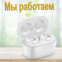 Беспроводные наушники блютуз гарнитура Wi-pods F6 белые, оригинал: улучшенная версия наушников Wi-pods А6