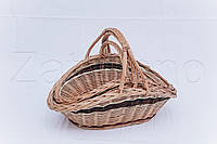 Комплект корзин плетеных   корзини з лози, фото 1