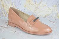 Бежевые кожаные женские туфли ASTTALY