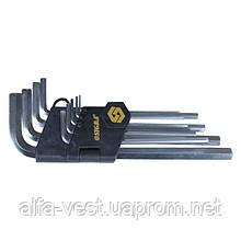Ключи шестигранные 9шт 1,5-10мм CrV (средние) Sigma (4022021)