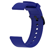 Ремешок силиконовый для смарт-часов 20 мм Smart Bracelet Silicone Dark Blue