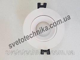 Светильник Feron DL0375MR16(цвет корпуса белый) встраиваемый поворотный