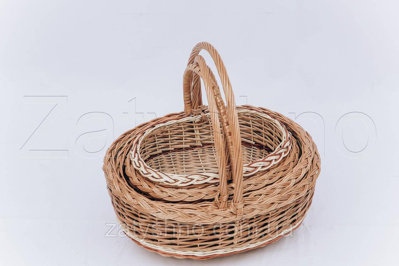 Корзина на Пасху комплект    корзина пасхальная   плетеная корзина на Пасху из лозы