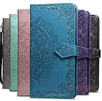 Кожаный чехол книжка Vintage для Samsung Galaxy A01 2020 A015 с визитницей (Разные цвета)
