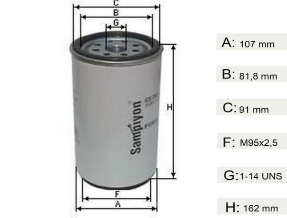 Фильтр топливный  DAF XF CF  Евро 3  1296851