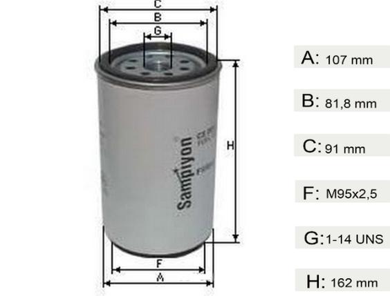 Фильтр топливный  DAF XF CF  Евро 3  1296851, фото 2