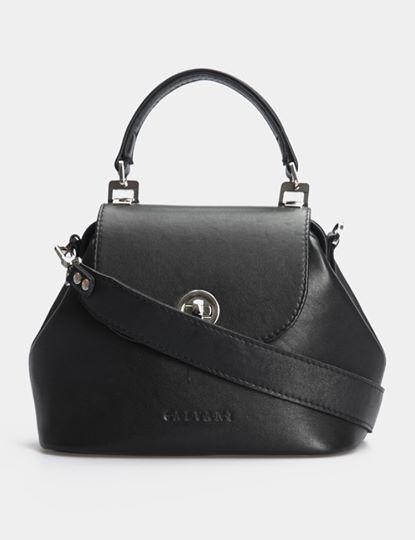 Женская кожаная сумочка-саквояж GALVANI GIRONA BLACK