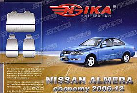 Авточехлы Nissan Almera 2006-2012 (economy) Nika