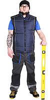 Спецодежда жилет рабочий утеплённый ЛТМ (дюспо, тёмно-синий)
