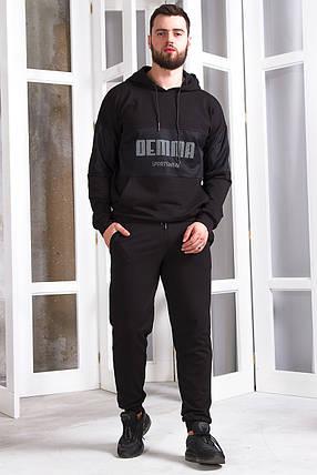 Мужской спортивный костюм 753 черный, фото 2