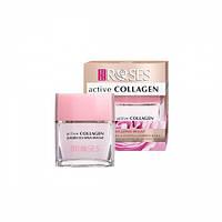 ACTIVE COLLAGEN Денний гель крем дерма фільтр з активним колагеном і розовою водою 50 мл