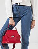 Женская кожаная сумочка-саквояж GALVANI SACVOYAGE RED, фото 2