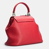 Женская кожаная сумочка-саквояж GALVANI SACVOYAGE RED, фото 4
