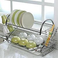 Настольная сушилка для посуды из нержавеющей стали Kitchen Storage Rack