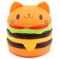 Игрушка-антистресс сквиш Гамбургер котик