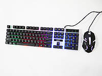 Дротова клавіатура і миша UKC M416 з підсвічуванням Black (4_00239)