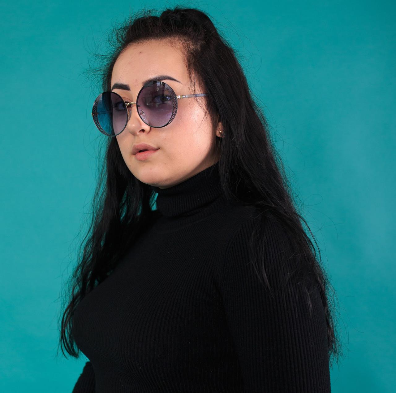 Женские солнцезащитные круглые очки  (арт. 2080664)