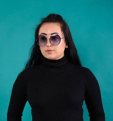 Женские солнцезащитные круглые очки  (арт. 2080664), фото 2