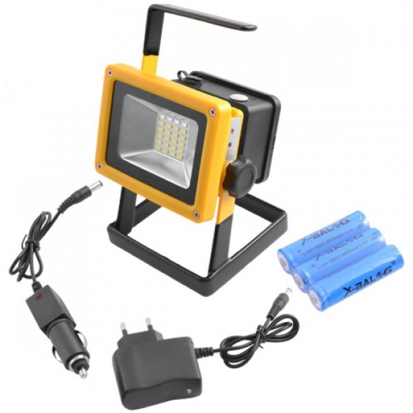 Переносной светодиодный ручной фонарь - прожектор Bailong BL-204
