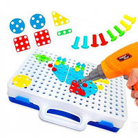 Детский конструктор с шуруповертом, винтовая мозаика Creative Puzzle