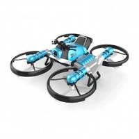 Детский летающий квадрокоптер-трансформер, дрон-мотоцикл с браслетом управления от руки