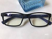 Синие компьютерные очки, Очки для компьютера. Модель ЕАЕ 2061 черные / синие, фото 1