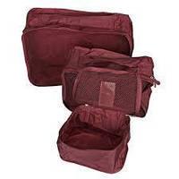 Набор дорожных органайзеров из 6 штук Secret Pouch (бордовый)