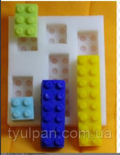 Молд силиконовый лего кирпичики
