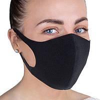 Тканевая многоразовая маска (2 шт) PT22 Черный, фото 1