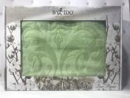 Махрова жакардова простирадло 200*220 Тм By Ido Зелена