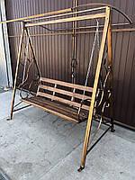 Качель садовая с навесом большая (211*200*152 см)