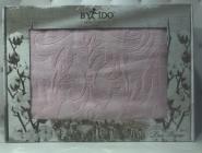 Махровая жаккардовая простынь 200*220 Тм By Ido Светло-розовая