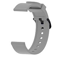 Ремешок силиконовый для смарт-часов 20 мм Smart Bracelet Silicone Gray