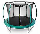 Батут NeoSport 312 см с защитной сеткой и лестницей для детей и взрослых, фото 2