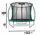 Батут NeoSport 312 см с защитной сеткой и лестницей для детей и взрослых, фото 4