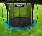 Батут NeoSport 312 см с защитной сеткой и лестницей для детей и взрослых, фото 3
