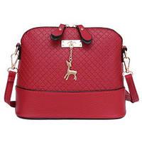 Стильная женская сумка через плечо Bembi (красная)