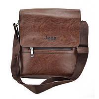 Мужская сумка из эко-кожи JEEP 866 через плечо коричневая, фото 1