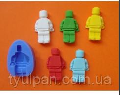 Молд силиконовый лего кирпичи и лего человек 4,3 см