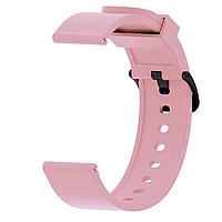 Ремешок силиконовый для смарт-часов 20 мм Smart Bracelet Silicone Pink
