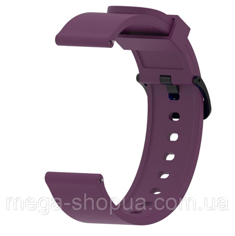 Ремешок силиконовый для смарт-часов 20 мм Smart Bracelet Silicone Purple