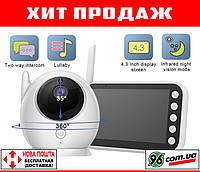 Хит! Видеоняня радионяня Baby Monitor ABM100 с большим дисплеем 4,3 дюйма и термометром! (видео радио няня)
