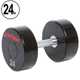 Гантель цельная профессиональная Life Fitness (1шт)  24кг  (SC-80081-24)