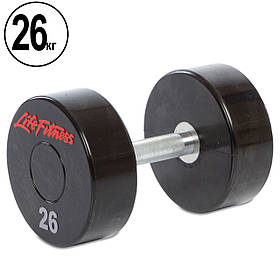 Гантель цельная профессиональная Life Fitness (1шт) 26кг (SC-80081-26)