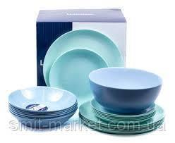 Сервіз столовий Luminarc Diwali 19 предметів Light Turquoise and Blue