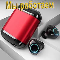 Беспроводные наушники блютуз наушники bluetooth гарнитура Wi-pods S7 кейс Power Bank 500mah RED Оригинал
